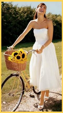 Bicicleta decorata cu floarea soarelui