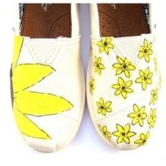 Pantofi pentru mire cu tematica floarea soarelui