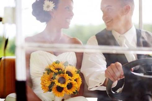 Tematica de nunta: floarea soarelui