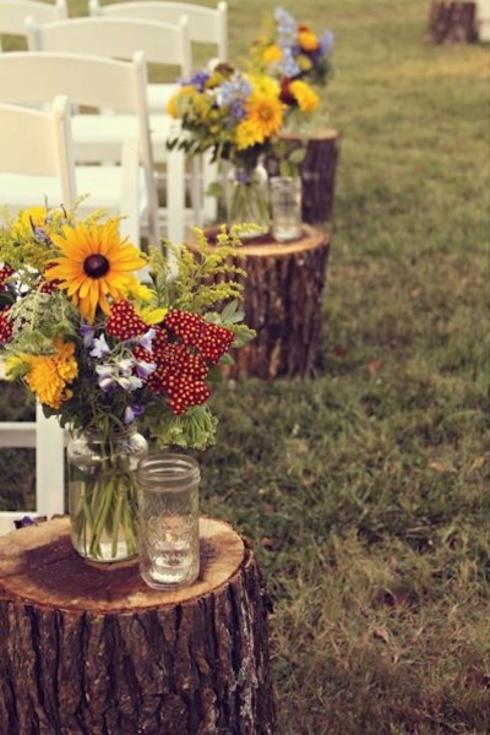 Decoratiuni pentru nunta rustica