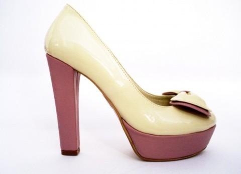 pantofi de mireasa lac