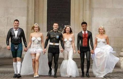 Fotografii amuzante la nunta