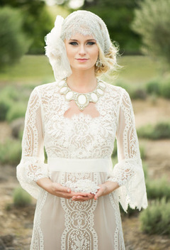 Rochie de mireasa crosetata