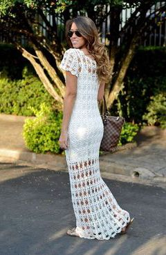 Model de rochie crosetata pt nunta