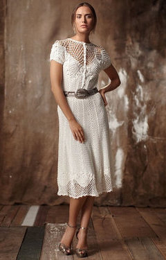 Rochie de mireasa crosetata vintage