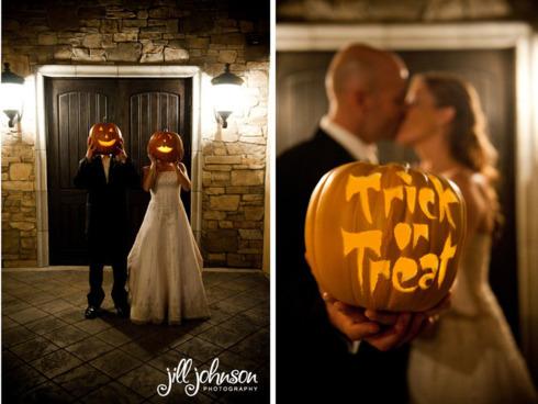 Idei de fotografii nunta de Halloween