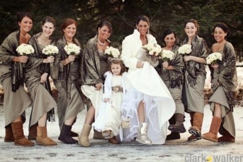 Sedinta foto pentru nunta de iarna