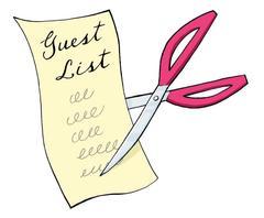 Cum sa tai invitatii de pe lista