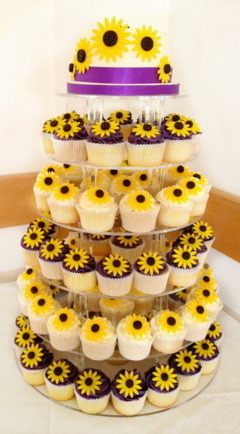 Tortul miresei cu floarea soarelui