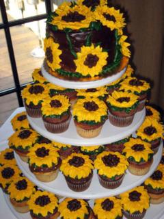 Torturi pentru mirese cu floarea soarelui