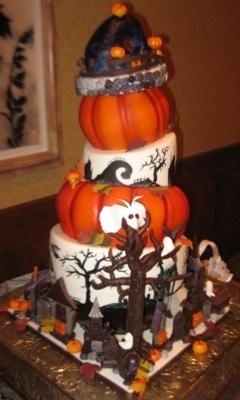 Idei pt tortul miresei de Halloween