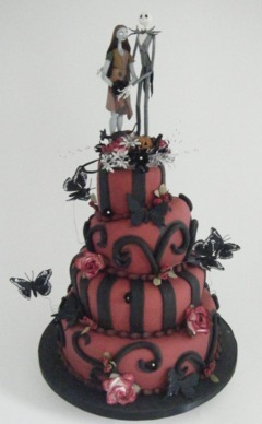 Tortul miresei pt nunta de Halloween