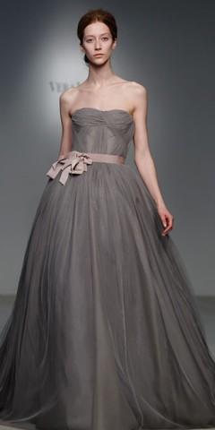 rochie de mireasa gri