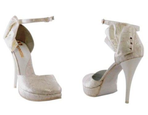 pantofi de mireasa cu fundita