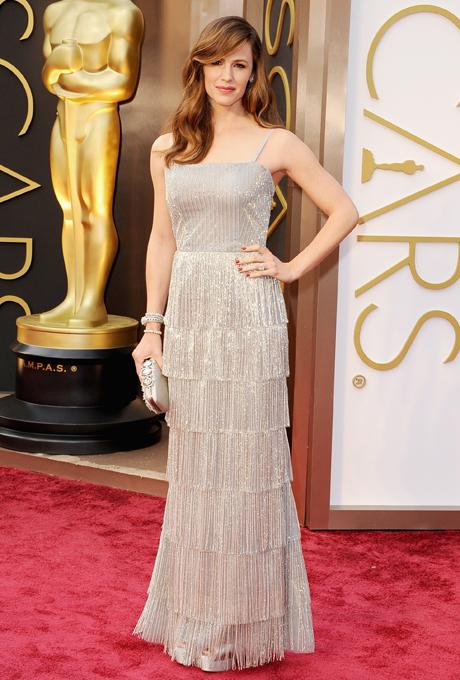 Jennifer Garner in rochie Oscar de la Renta