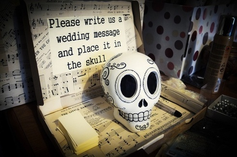 Guest book nunta de Halloween