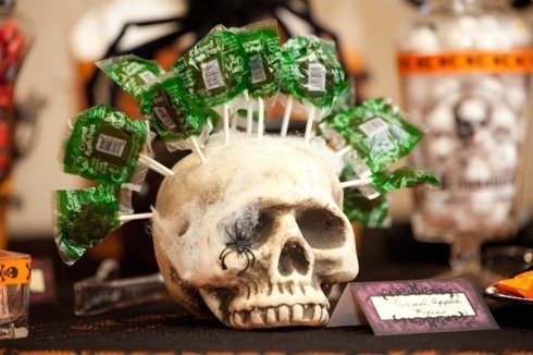 Candy-bar la nunta Halloween