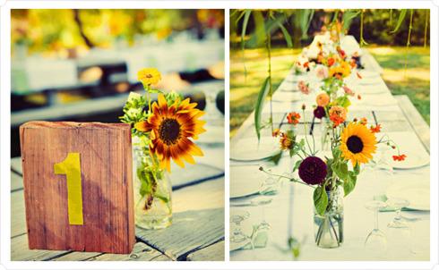 Decor nunta cu floarea soarelui