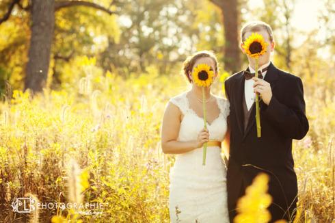 Sedinta foto nunta tematica cu floarea soarelui