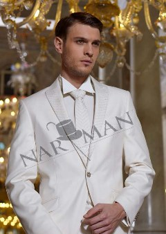 Costum de ginere Narman pentru mire timid