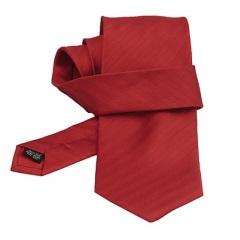 Cravata rosie de matase cu dungi fine