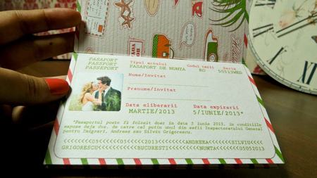 Invitatii de nunta romantice
