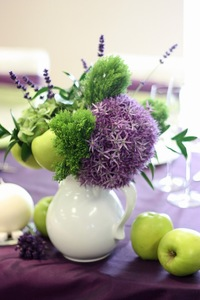 Aranjament floral pentru masa de nunta