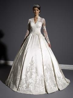Rochie de mireasa stil Kate Middleton
