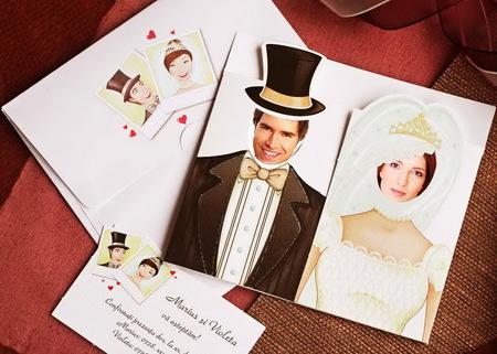 Invitatie de nunta cu poze Pret: 2,65 lei (+ taxe)