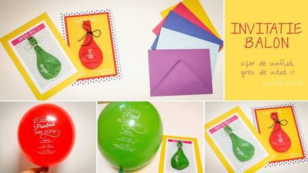 Invitatie de nunta tip balon Pret: 9,5 lei