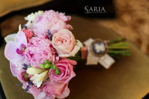 Buchetul nasei in nuante de roz