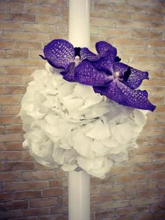 Lumanari de cununie White&Purple