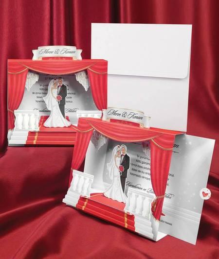 Invitatie de nunta 3D Pret: 1,8 lei (0,5 lei - tiparirea)