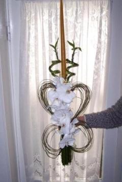 Lumanari de nunta sub forma de fluture