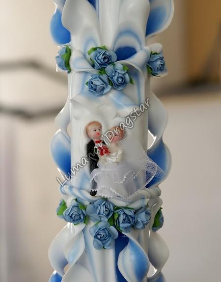 Lumanari de nunta sculptate