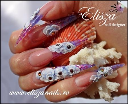 Modele de unghii de mireasa