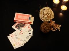 Invitatie de  nunta de tip carti de joc