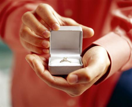 Oferirea unui inel de logodna