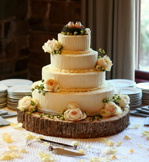 Tort rustic de nunta