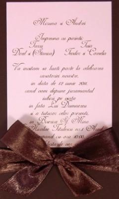 invitatie de nunta clasica