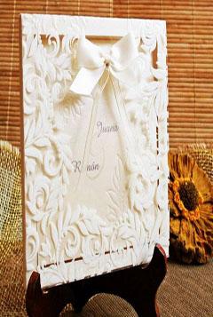 ivitatie nunta vintage