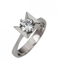 inel logodna cu diamant stralucitor
