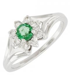 model inel de logodna cu diamant