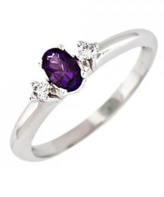inel logodna cu diamant colorat