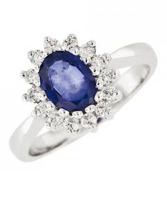 inel cu diamant oval