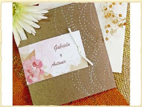 invitatie de nunta cu plante