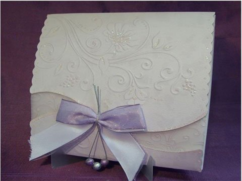 invitatie nunta cu funda