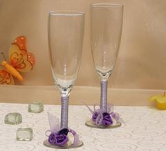 pahare de nunta violet