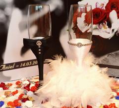 pahare nunta personalizate