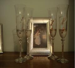 pahare nunta argintii